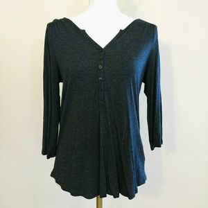 EUC Elbow Length Sleeve Charcoal Tee